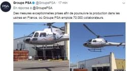Peugeot a carrément sorti l'hélicoptère pour s'affranchir du blocus de son