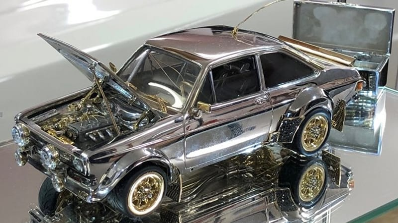 This Ford Escort is made of silver, gold and gems worth over