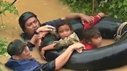Les images de la violente tempête Tembin qui balaie les