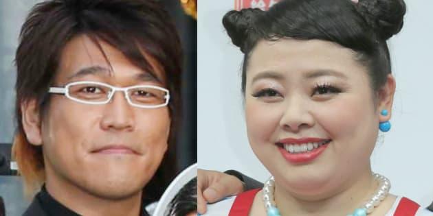 古坂大魔王さん(左)と渡辺直美さん
