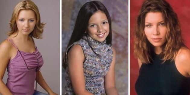 De gauche à droite: Beverley Mitchell, Mackenzie Rosman et Jessica Biel en 2005.