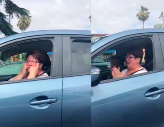 Woman makes racist face at Asian-American serviceman
