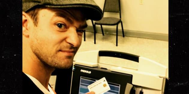 En prenant un selfie dans un bureau de vote, Justin Timberlake s'attire des ennuis avec la justice