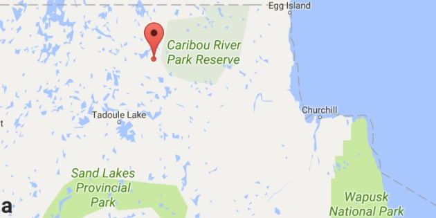 The Manitoba government will sign a piece of land near Duck Lake (marked in red) back to the Sayisi Dene First Nation.