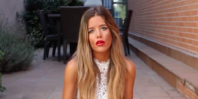 Celia Fuentes, en una imagen de uno de sus vídeos de YouTube.