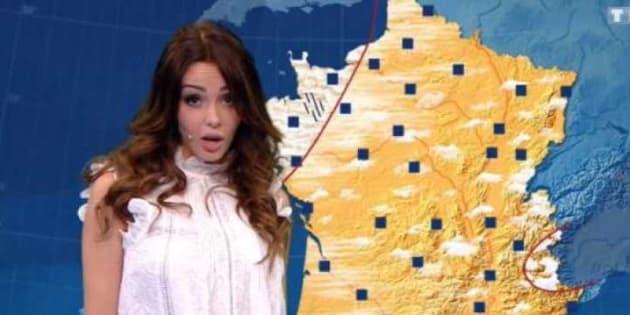 """Nabilla en présentatrice météo à l'émission d'Arthur """"Vendredi tout est permis"""" a tenu toutes ses promesses"""