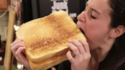 Everything Is Oversized (And Awesome) In This Giant Grilled Cheese