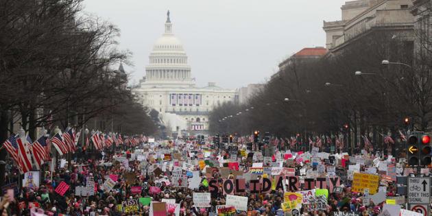 Una imagen de la Marcha de las Mujeres el 21 de enero de 2017 en Washington (Estados Unidos).
