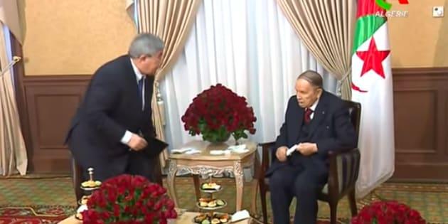 Images diffusées par Canal Algérie après le renoncement d'Abdelaziz Bouteflika.