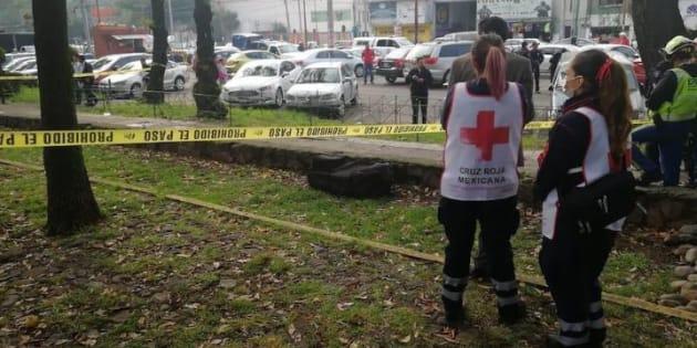 La maleta fue hallada en una jardinera de la Unidad Habitacional Tlatelolco Primera Sección, localizada en la avenida Flores Magón y Zaragoza, colonia Buenavista.