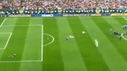 Adil Rami n'a pas joué une minute mais a quand même tenté de mettre un but après la