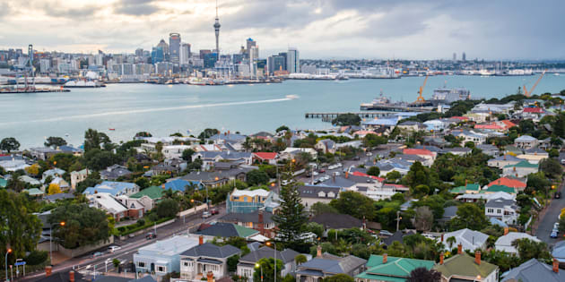 The skyline of Auckland, New Zealand, with the suburb of Devonport in the foreground. New Zealand has banned most foreigners from buying homes as it tries to tackle runaway housing prices.