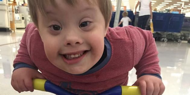 My son, Parker Abianac, who was born with Down Syndrome