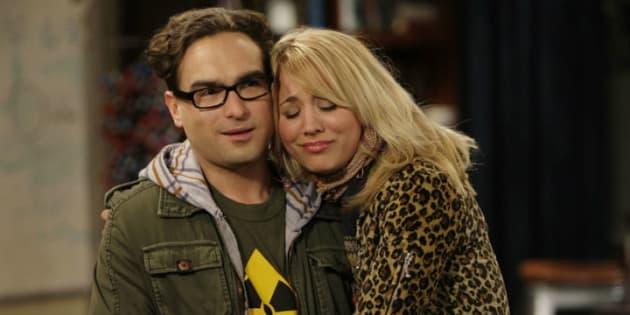 Penny y Leonard, de 'The Big Bang Theory'.