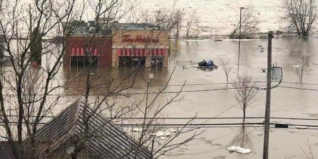 Beauceville est victime des inondations.