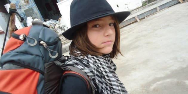 J'ai quitté l'école à 9 ans pour vivre une vie de nomade. (Photo: l'auteur avec son sac à dos)