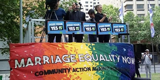 Sydney's rally was one of the four same-sex marriage rallies across Australia on Saturday.
