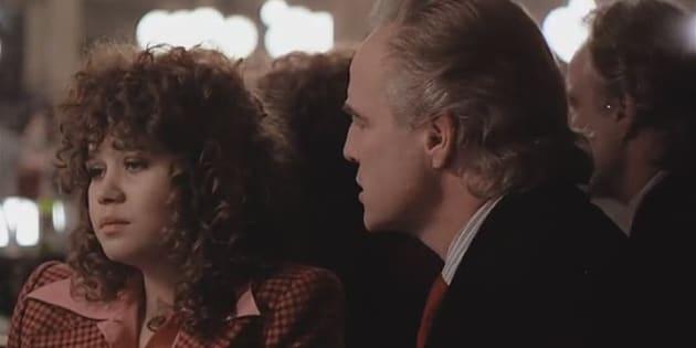 """Maria Schneider et Marlon Brando dans """"Le dernier tango à Paris""""."""