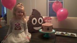 Esta pequeña quería una fiesta de cumpleaños temática. Y la