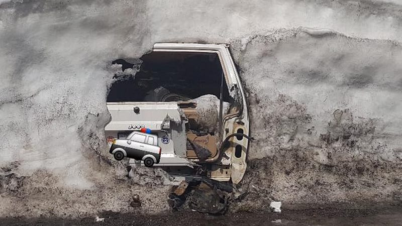Jeep In Snow >> Abandoned Jeep Found Under Twenty Feet Of Snow In Donner Pass Autoblog