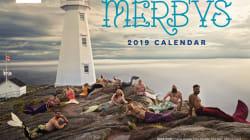 Le calendrier d'«hommes sirènes» est de