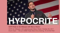 Al apoyar a un candidato xenófobo en Virginia, Marco Rubio demuestra que le valen los