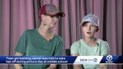 13enne malata di cancro vuole tenere il cappello per la foto di classe. Ma la reazione del fotografo è