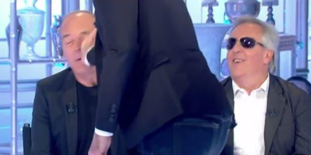 Laurent Baffie gifle Gilles Verdez qui, cette fois, ne s'est pas laissé faire