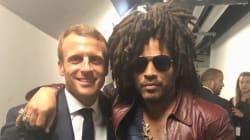Quand Lenny Kravitz tombe sur Emmanuel Macron au concert de