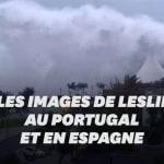 Après le Portugal et l'Espagne, la tempête Leslie se dirige vers la