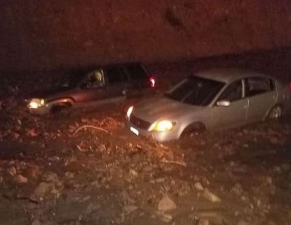California highway closed by mudslides