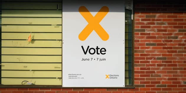 As citizens ponder candidates for provincial and municipal governments there are reminders to vote in the Ontario elections 2018 posted all over the province leading up to the June 7 elections in Kitchener, Ont., May 17, 2018.