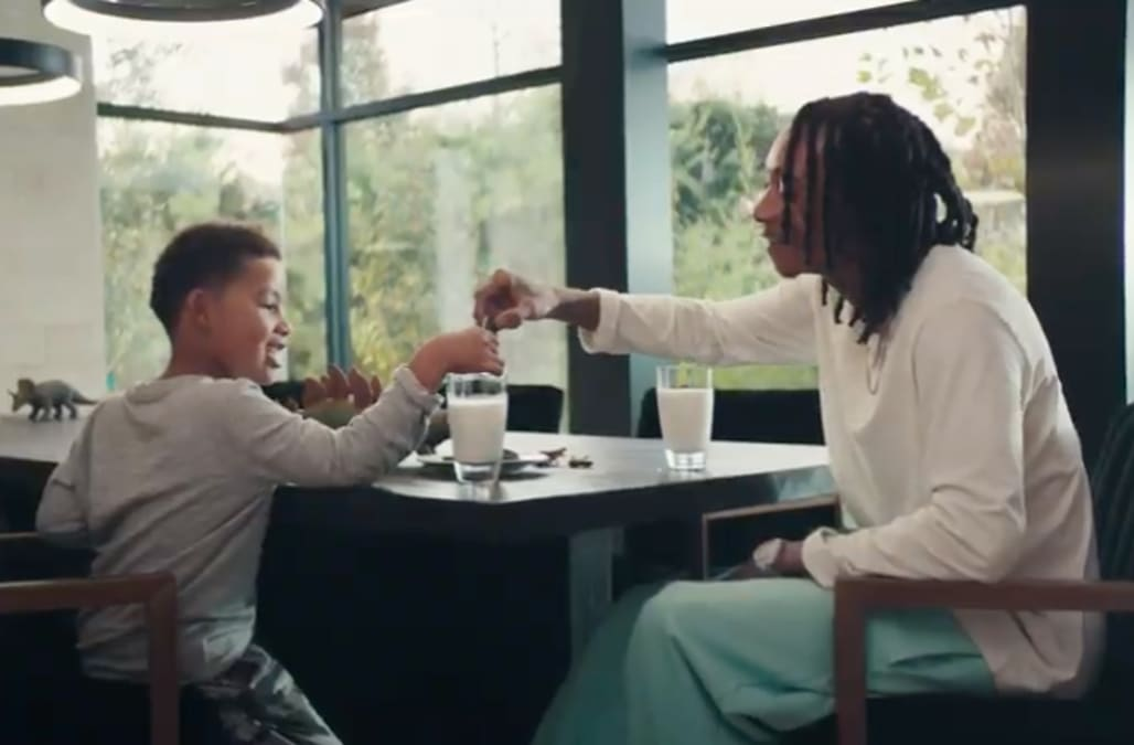 Wiz Khalifa stars in 'playful' Oreo commercial with son, Sebastian