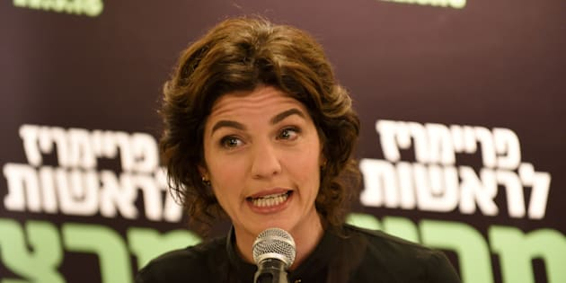 MK Tamar Zandberg, the new elected leader of Meretz Party, speaks to supporters after being elected as the new party leader at a Meretz Party event for announcing the results of the primaries in Tel Aviv, March 22, 2018.  (Photo by Gili Yaari/NurPhoto via Getty Images)