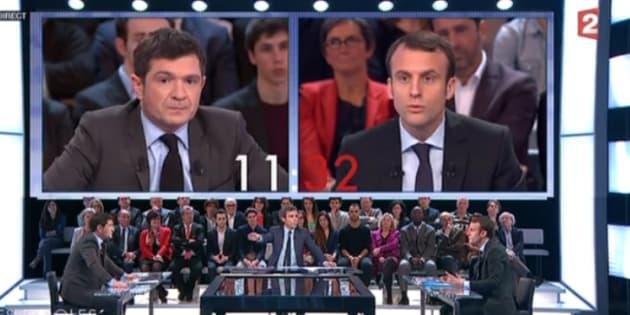 """Emmanuel Macron avait participé à """"Des paroles et des actes"""" sur France2 en 2015."""