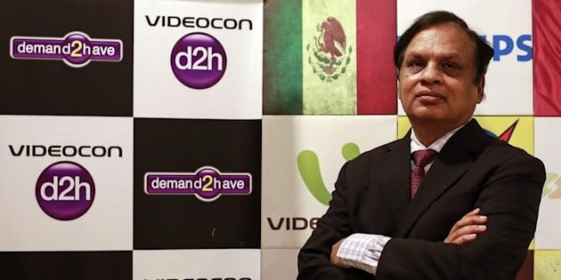 Videocon Group Chairman Venugopal Dhoot poses for a picture at the company corporate office in Mumbai January 7, 2015. REUTERS/Danish Siddiqui