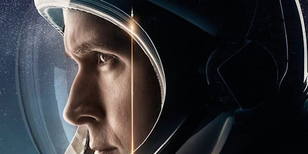 """Affiche du film """"First Man"""", de Damien Chazelle, avec Ryan Gosling et Claire Foy."""