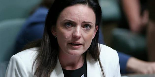 Emma Husar delivered a passionate domestic violence speech in parliament on Wednesday.