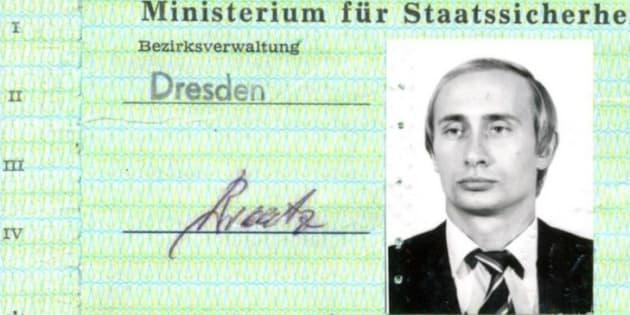 シュタージが発行したプーチン氏の身分証=シュタージ記録局より