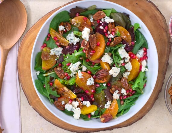 Healthy Holidays: Winter beet and pomegranate salad