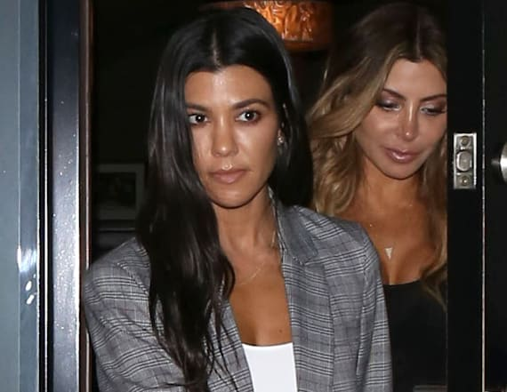 Kourtney K. steps out after Bieber's crash