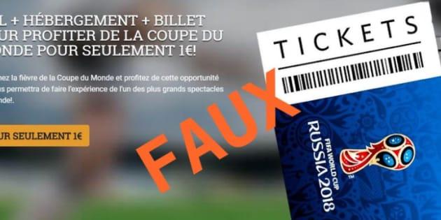 Coupe du Monde 2018: le ministère de l'Intérieur met en garde contre les arnaques à 1 euro