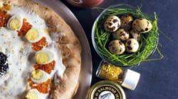 Aqui está a pizza mais cara da Europa: Massa fresca recheada de caviar e ouro