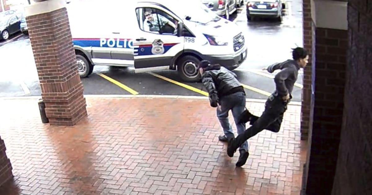 la police remercie ce grand p re pour son croche pied un suspect arm qui s 39 enfuyait. Black Bedroom Furniture Sets. Home Design Ideas