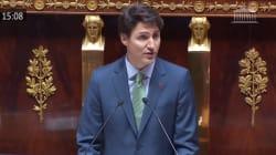 Trudeau s'est fait applaudir sur tous les bancs de l'Assemblée (mais pas en même