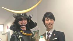 羽生結弦と伊達政宗、仙台が誇る英雄が時を超えて2ショット