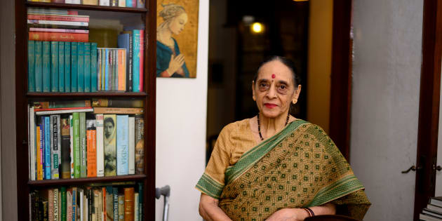 File photo of Leila Seth, first woman judge on the Delhi High Court and the first woman to become Chief Justice of a state High Court.