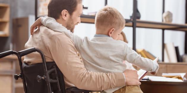 La vérité sur la vie de père handicapé.