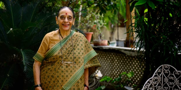 File photo of the late Leila Seth, first woman judge on the Delhi High Court and the first woman to become Chief Justice of a state High Court, at her home, during an interview on October 16, 2014 in Noida, India. (Photograph by Pradeep Gaur/Mint Via Getty Images)