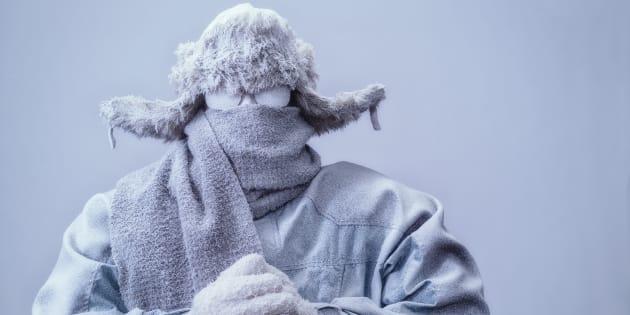"""Vague de froid:  la température """"ressentie""""? """"Une invention très américaine"""" pour """"mieux évaluer les risques sanitaires""""."""